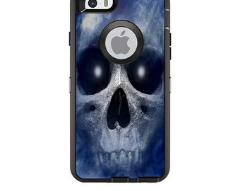 Skin Decal Wrap for OtterBox Defender/Commuter/Universe Apple iPhone 7 7+ 6 6+ 5C 5/5S Case Vinyl Cover Sticker Skins Haunted Skull