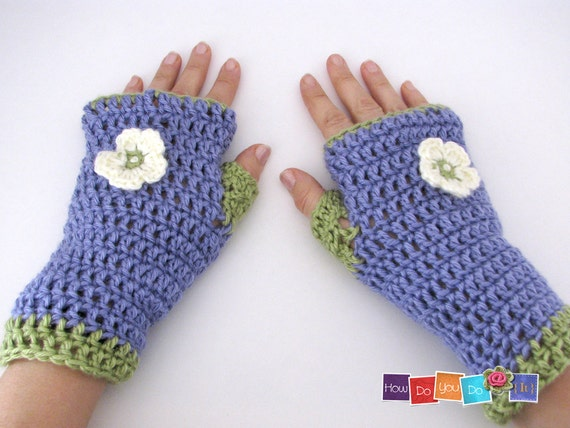 Crochet Fingerless Gloves Pattern Beginner : Beginner Crochet Photo Tutorial Fingerless Gloves Pattern