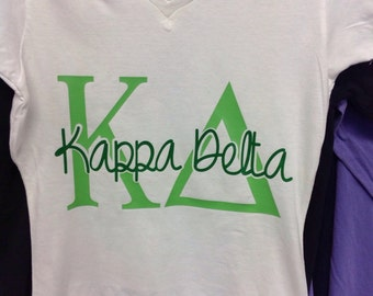 Kappa Delta Shirt offered on a variety of shirt styles!