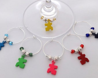 Puzzle Piece / Autism Awareness Wine Charms