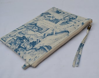 iPad Air case padded Handmade fabric case  ipad 2 ipad 3 ipad 4 cover pouch sleeve with  Ziper fastening Custom/Made to order