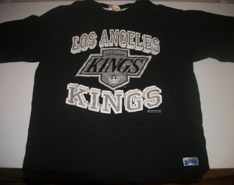 Los Angeles KINGS  t-shirt  Softwear Athletics 1989 size L