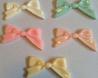 Cabochon bow tie 1pcs