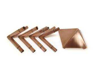 Copper Meditation Pyramid Connectors - Create Your Own 51 Degree Pyramid