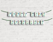 Party Time Excellent Banner Kit - Wayne's World Home or Party Decor - Fun for 90's or SNL Party