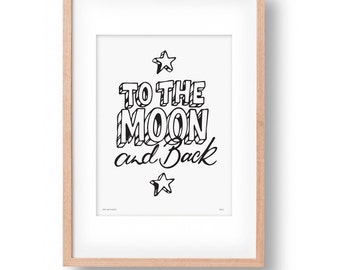 Prints - To the moon and back