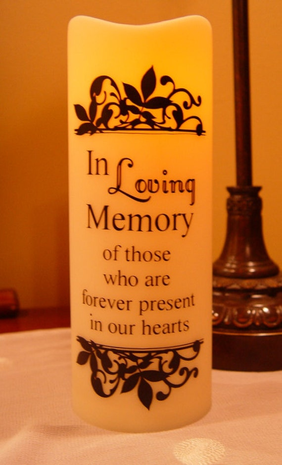 In Loving Memory Led Battery Operated Candle Wedding In