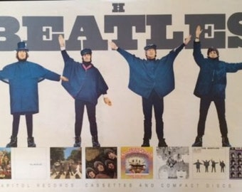 THE BEATLES HELP original  cd promo 1992 mint condition 20 x 30 poster   Lennon  McCartney Harrison Ringo Star Beatles Posters