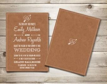 Wedding Invitation Template - Printable Wedding Invitation - Editable Wedding Template - Instant Download  - Cupid's Dart Collection