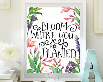 Botanical print positive art quote print wall decor inspirational quotes poster kids wall art teen room decor motivational quote  id109-113