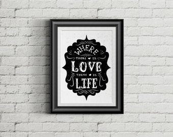 Love Quote_Hand Lettering Typography Poster_Retro Typography Design_Black_Love_Creative