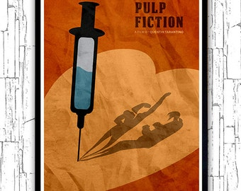 Quentin Tarantino Minimalist Movie Poster - Pulp Fiction