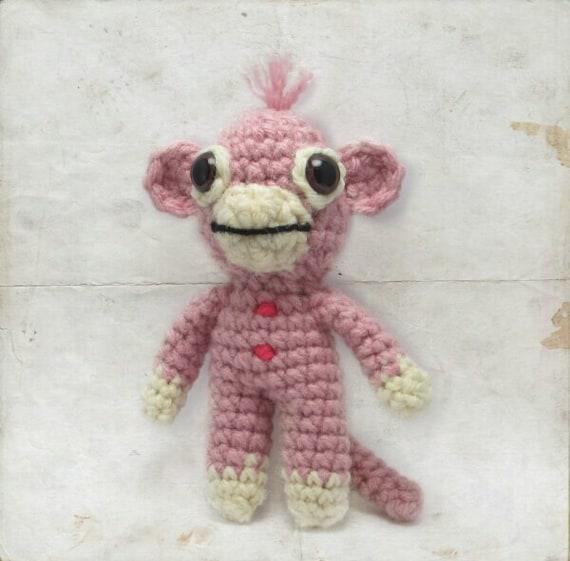 Amigurumi Crochet Sock Monkey : Crochet Sock Monkey Mini Amigurumi Doll by ...