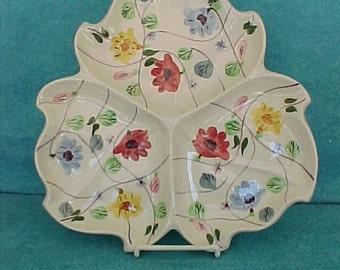 "Blue Ridge Southern Potteries Tray Martha 12"" Floral"