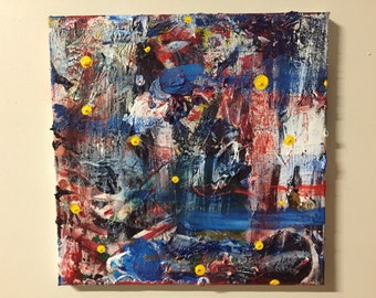 12x12 Mixed Media Abstract Painting