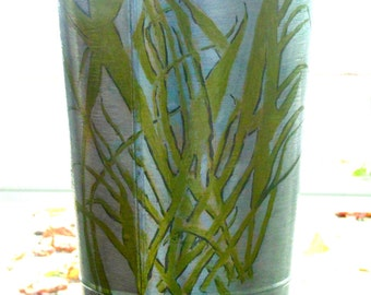 Elegant Tall Vase With Orchid Motif