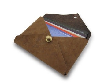 The Courier in Natural - Horween® Chromexcel Card Wallet / Business Card Wallet