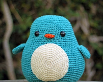 Big Cuddly Penguin Amigurumi *READY TO SHIP*