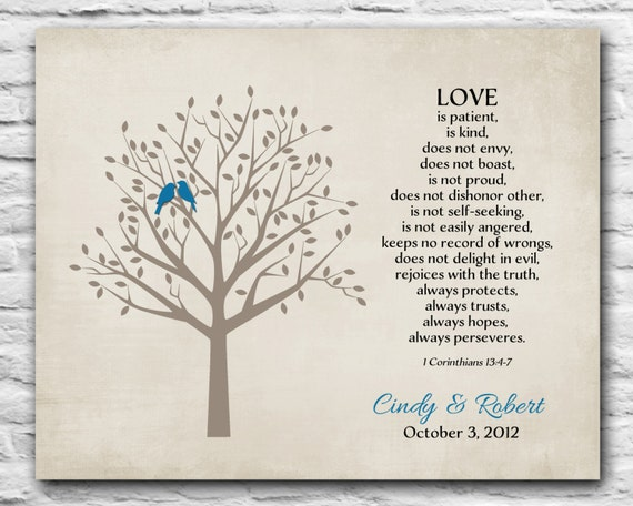 Personalized Anniversary Gift First Wedding Paper Gift For