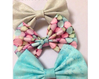 Sparkly and candy hair bows