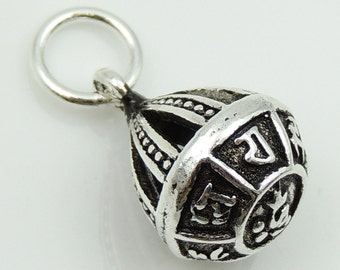 S925 Sterling Silver 10x14mm Tibetan Buddhism Mantra Protection Pendant Charm WSP099 Retail Wholesale