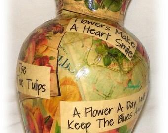 Beautiful Upcycled Vase (D122)