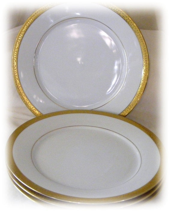 GREAT INVESTMENT . . . Fabulous ANTIQUE Gold Rimmed Bone China, Never Used