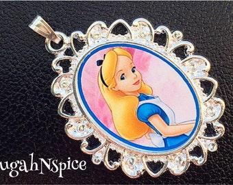 Disney's Alice in Wonderland Necklace Pendant Wonderland Necklace Wonderland Jewelry