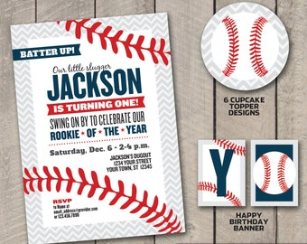 DIY Printable BASEBALL Rookie of the Year Birthday Party Package
