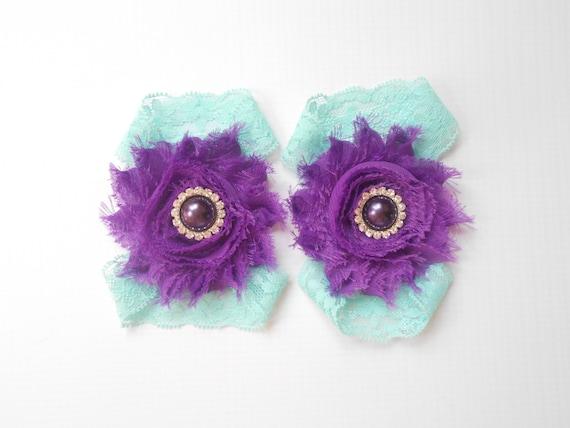 purple flower Baby Barefoot Sandals ,Chiffon Flowers  , Toddler Sandals ,Newborn Sandals ,Baby Flower Sandals