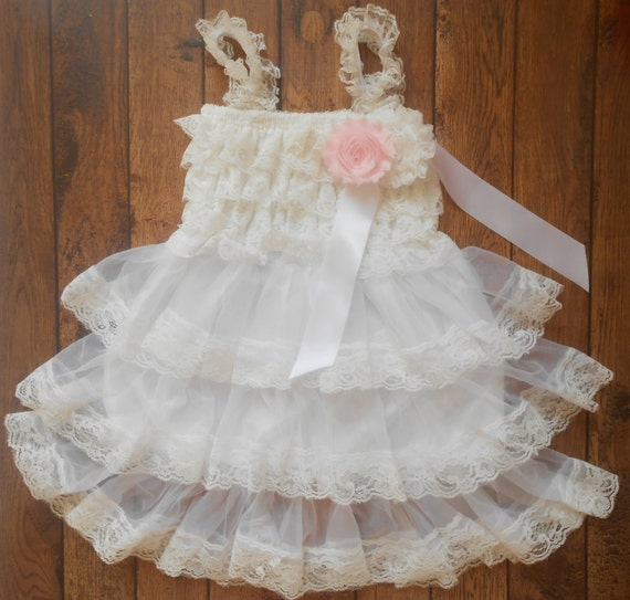 White lace Dress , and set,Lace Flower girl dress ,Baby Lace Dress,Lace Dress, Ivory Lace dress
