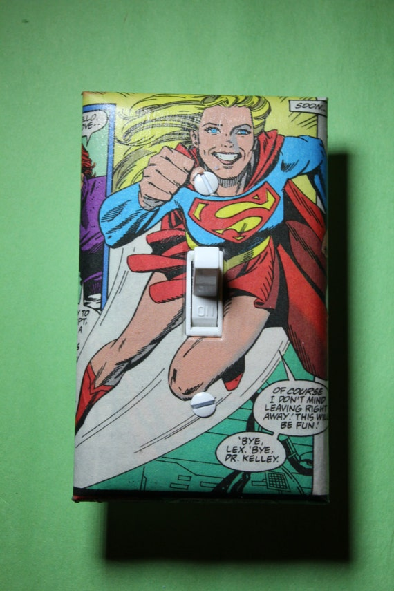 Supergirl Comic Book Superhero Light Switch Plate By