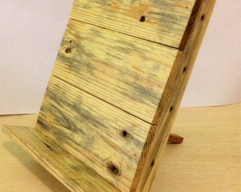 Wooden Tablet Stand cookbook stand and ipad iphone or tablet docking station
