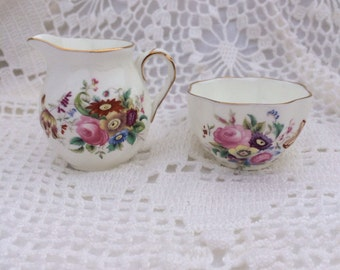 Coalport Junetime Sugar and Creamer