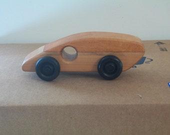 Wood Fastback car