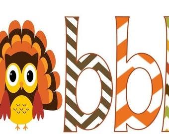 Owl Thanksgiving Iron On Transfer Gobble