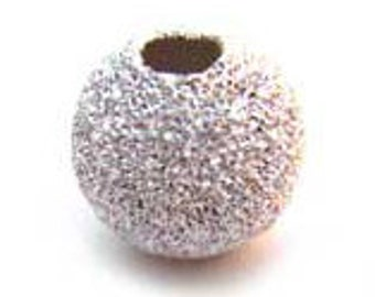 Stardust Beads - 5 Sizes - Bright Silver