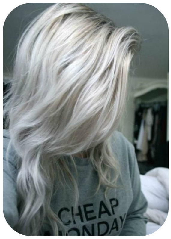 balayage dip dye 8a remy ombre grey human clip in hair. Black Bedroom Furniture Sets. Home Design Ideas
