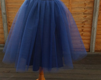 THE SWAN LADY Tea Length Tulle Skirt/ Tutu Skirt
