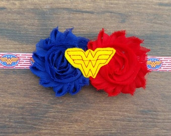 WW Headband/Superhero Headband/Halloween Child Accessory/Costume Bow