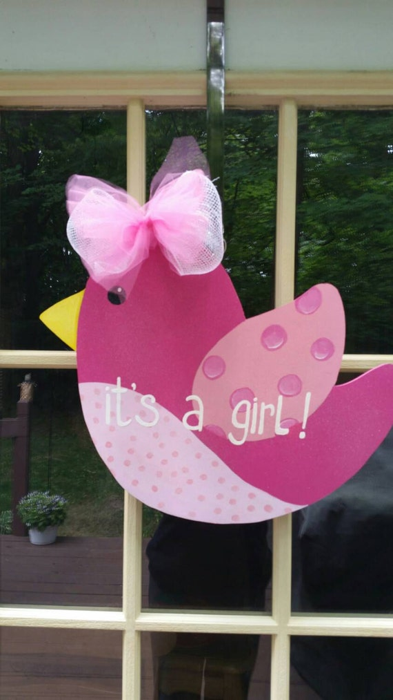 Baby announcement door decoration baby shower wreath by for Baby hospital door decoration