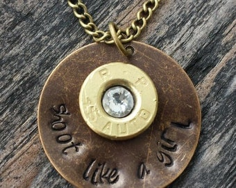 shoot like a girl necklace!