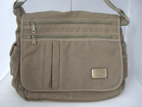 large canvas messenger bag with concealed by camilleconceals