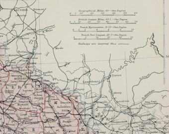 Blackie 1882 Antique Map - France, Corsica, Provinces