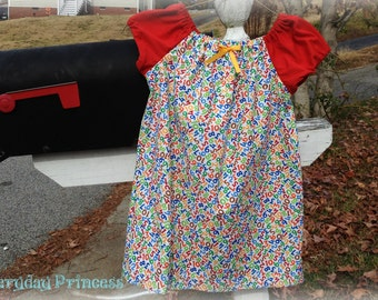 Numbers Peasant Dress Size 4/6x