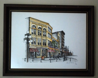 Set of Two Stuart Oldale Signed/Limited Edition Vancouver Historical Landmark Prints
