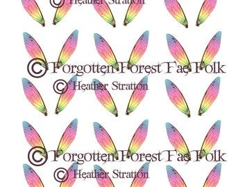 Fairy rainbow wings digital sheet
