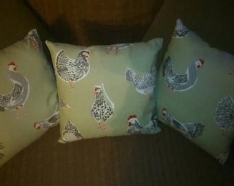 Sage Chicken cushion