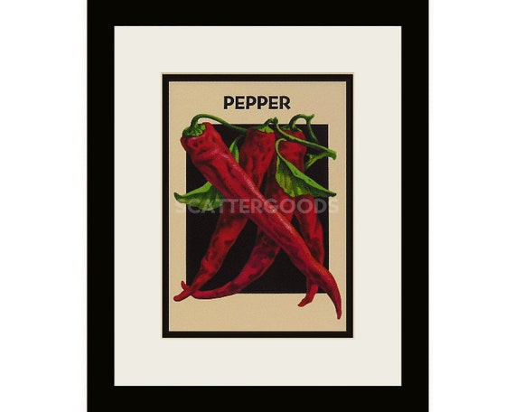 Items Similar To Chili Pepper Print Red Cayenne Pepper