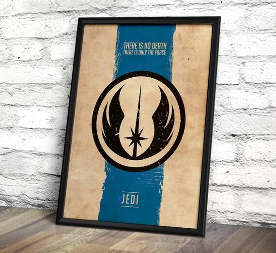 Star Wars Poster - - Star Wars Inspired Jedi Code/Light Side Poster